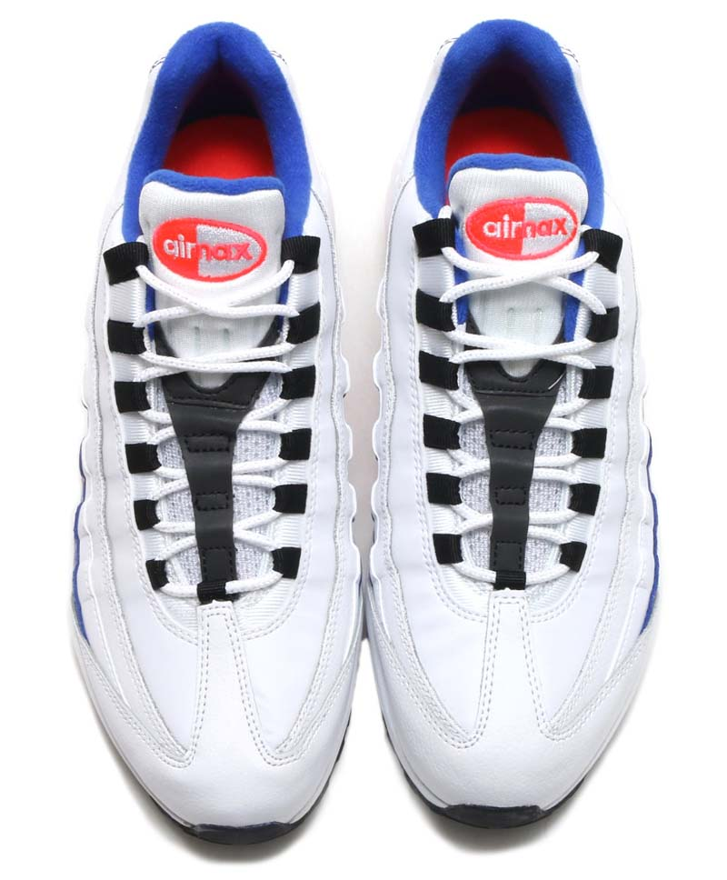 NIKE AIR MAX 95 ESSENTIAL [WHITE / BLACK-SOLAR RED-ULTRAMARINE] 749766-106