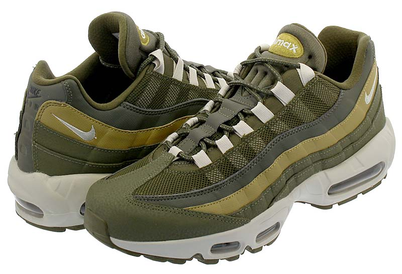 NIKE AIR MAX 95 ESSENTIAL [OLIVE CANVAS / LIGHT BONE / GOLDEN MOSS] 749766-303