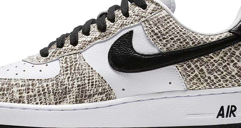 NIKE AIR FORCE 1 LOW RETRO COCOA SNAKE [TRUE WHITE / BLACK-COCOA] 845053-104
