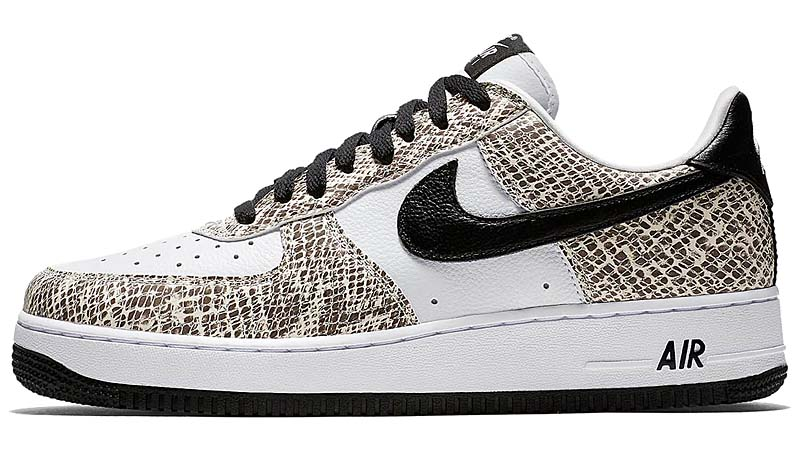 NIKE AIR FORCE 1 LOW RETRO COCOA SNAKE [TRUE WHITE / BLACK-COCOA] 845053-104 ナイキ エアフォース1 ロー 白蛇 「ホワイト/ココアスネーク」