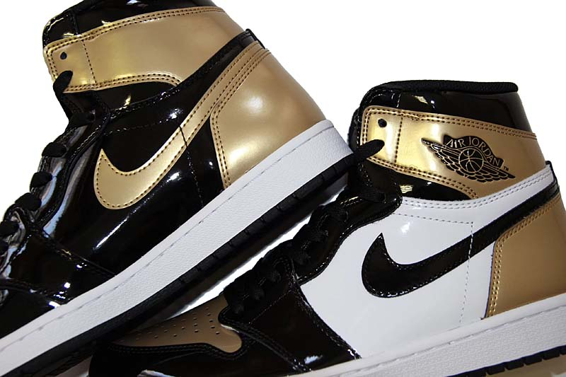 NIKE AIR JORDAN 1 RETRO HIGH OG NRG [BLACK / WHITE / METALLIC GOLD] 861428-007