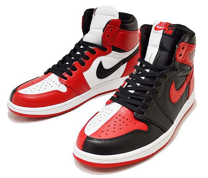 "NIKE AIR JORDAN 1 RETRO HIGH OG NRG ""HOMAGE TO HOME"" [BLACK / WHITE / UNIVERSITY RED] 861428-061"