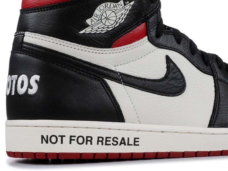 "NIKE AIR JORDAN 1 RETRO HIGH OG ""NOT FOR RESALE"" [SAIL / BLACK / VARSITY RED] 861428-106"
