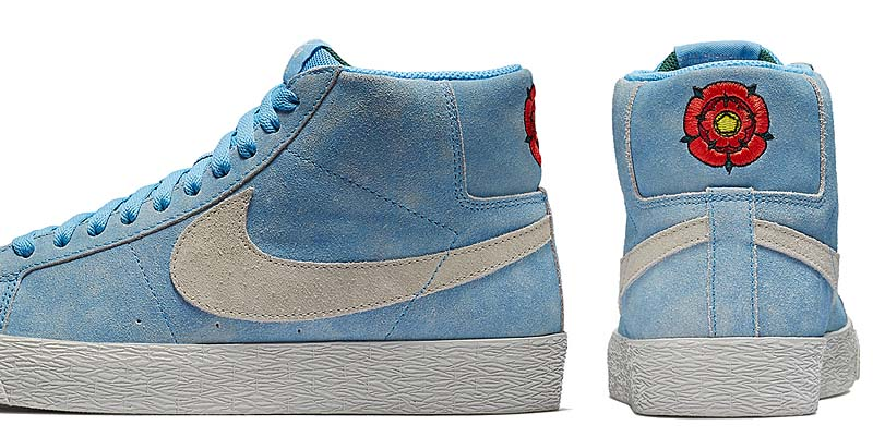 "NIKE SB BLAZER ZOOM MID ""ENGLISH ROSE"" [UNIVERSITY BLUE / LIGHT BONE] 864349-406"