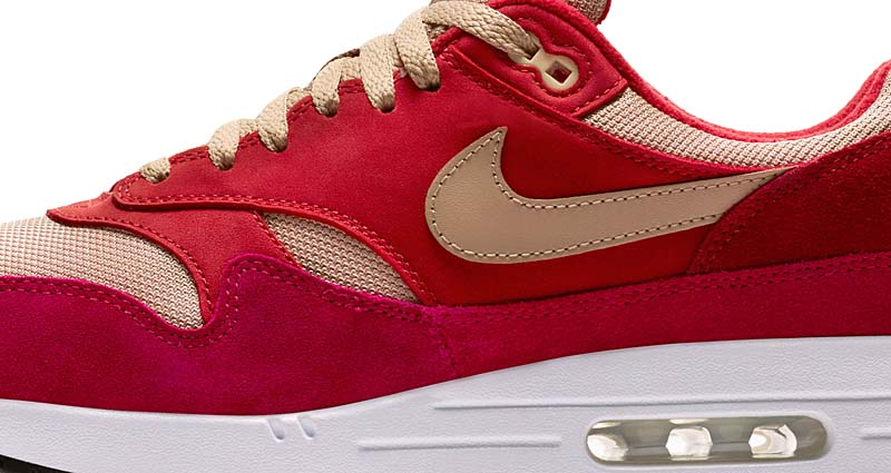 NIKE AIR MAX 1 PREMIUM RETRO [TOUGH RED / MUSHROOM-RUSH RED-PALE VANILLA] 908366-600