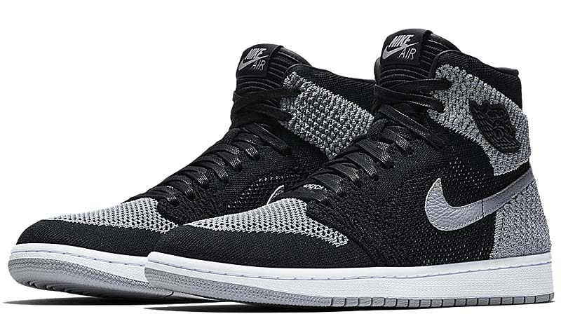 "NIKE AIR JORDAN 1 RETRO HI FLYKNIT ""SHADOW"" [BLACK / WOLF GREY-WHITE] 919704-003"
