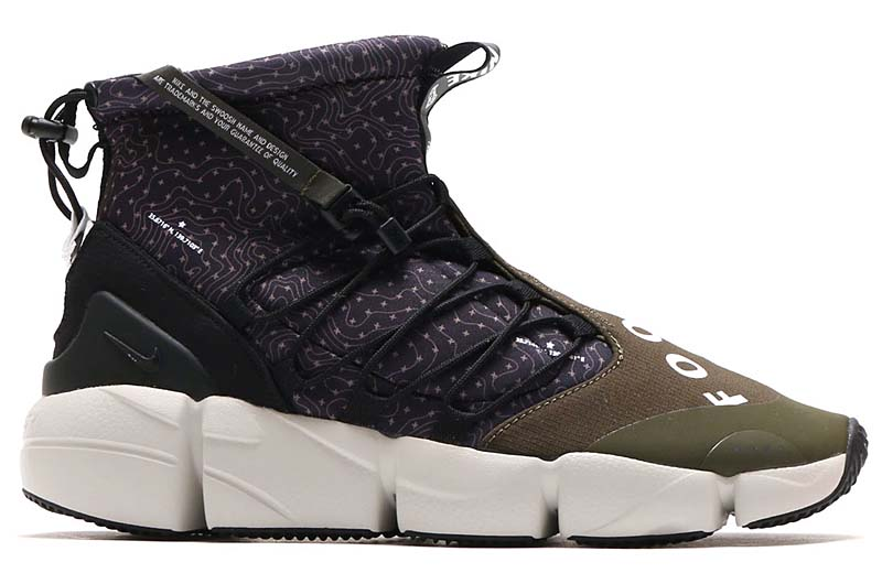 NIKE AIR FOOTSCAPE MID UTILITY [BLACK / WHITE-CARGO KHAKI-LIGHT BONE] 924455-001
