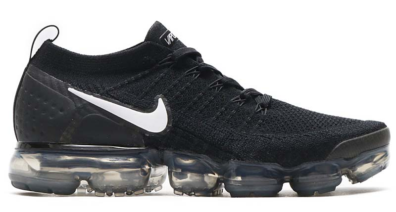 NIKE AIR VAPORMAX FLYKNIT 2 [BLACK / WHITE-DARK GREY-METALLIC SILVER] 942842-001