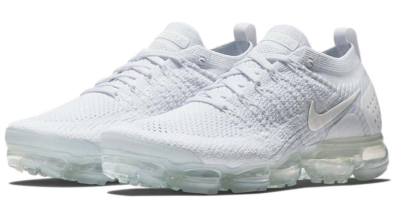 NIKE AIR VAPORMAX FLYKNIT 2 [WHITE / WHITE-PURE PLATINUM] 942842-100