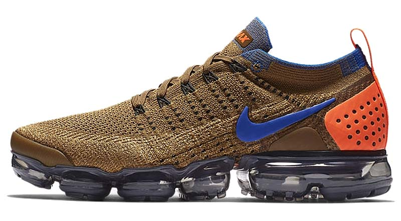 NIKE AIR VAPORMAX FLYKNIT 2 [GOLDEN BEIGE / RACER BLUE-CLUB GOLD] 942842-203