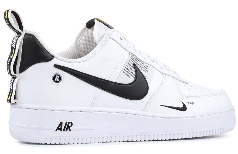 NIKE AIR FORCE 1 '07 LV8 UTILITY [WHITE/WHITE-BLACK-TOUR YELLOW] AH8047-012