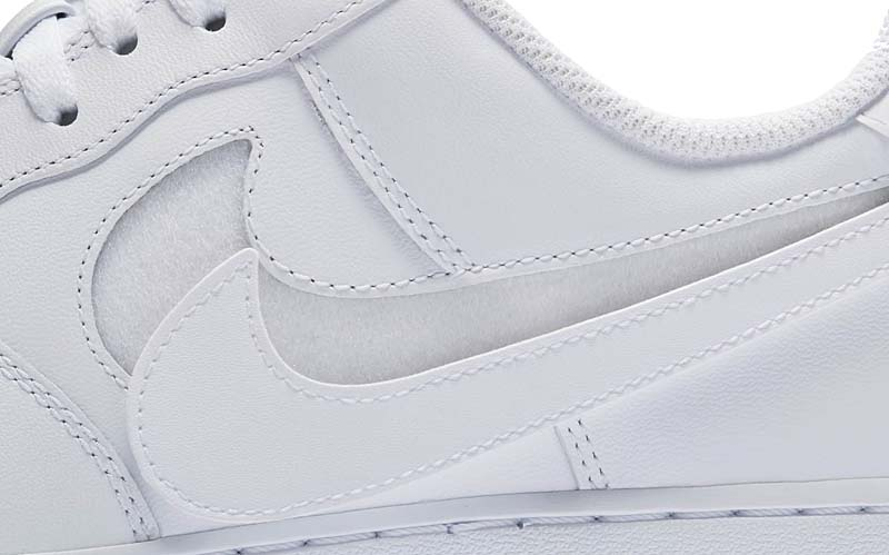 "NIKE AIR FORCE 1 LOW QS ""SWOOSH PACK"" [TRIPLE WHITE] AH8462-102"