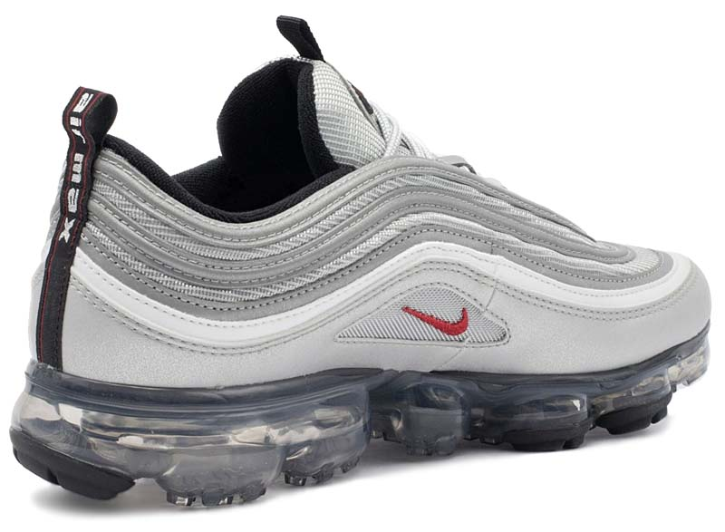 NIKE AIR VAPORMAX 97 SILVER BULLET [METALLIC SILVER / VARSITY RED-WHITE-BLACK] AJ7291-002