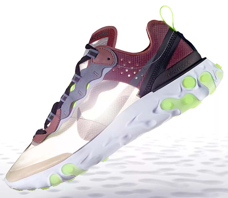NIKE REACT ELEMENT 87 [DESERT SAND / COOL GREY-SMOKEY MAUVE] AQ1090-002
