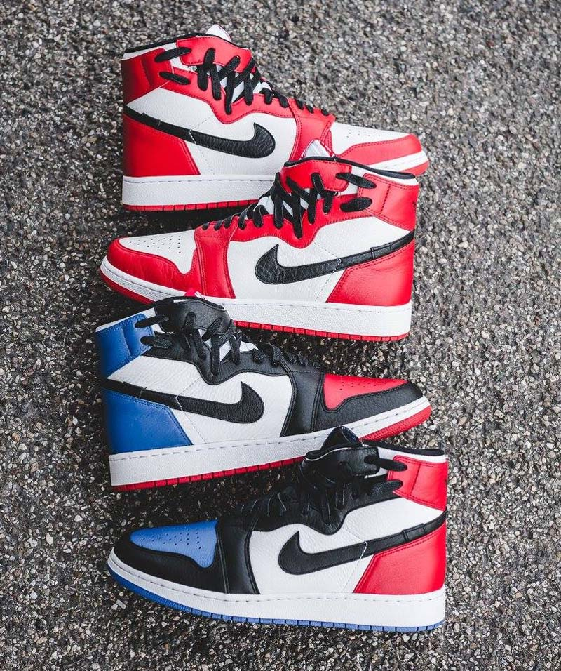"NIKE AIR JORDAN 1 REBEL XX OG ""TOP 3"" [WHITE / BLACK-VARSITY RED-VARSITY ROYAL] AT4151-001"