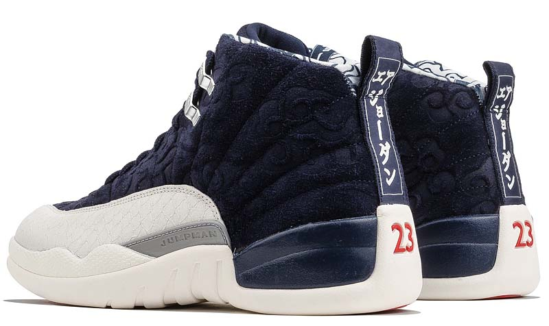 NIKE AIR JORDAN 12 RETRO PRM [COLLEGE NAVY / UNIVERSITY RED-SAIL] BV8016-445