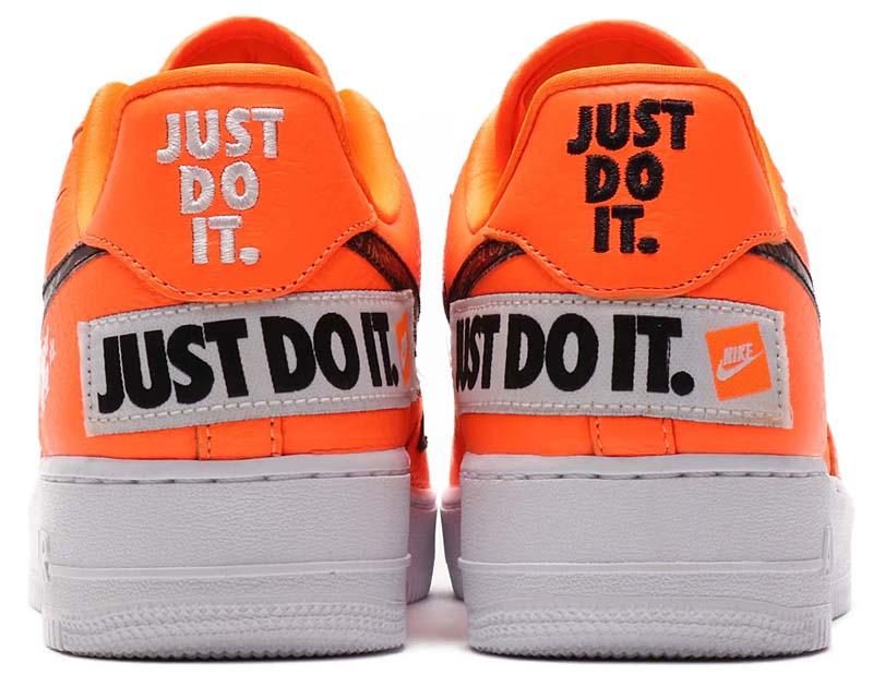 NIKE AIR FORCE 1 07 PRM JDI Just Do It [TOTAL ORANGE / TOTAL ORANGE-BLACK-WHITE] ar7719-800 ナイキ エアフォース1 07 プレミアム JDI JUST DO IT. 「オレンジ/ブラック/ホワイト」
