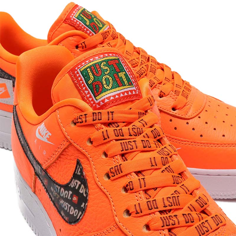 NIKE AIR FORCE 1 07 PRM JDI Just Do It [TOTAL ORANGE / TOTAL ORANGE-BLACK-WHITE] ar7719-800 ナイキ エアフォース1 07 プレミアム JDI JUST DO IT. 「オレンジ/ブラック/ホワイト」