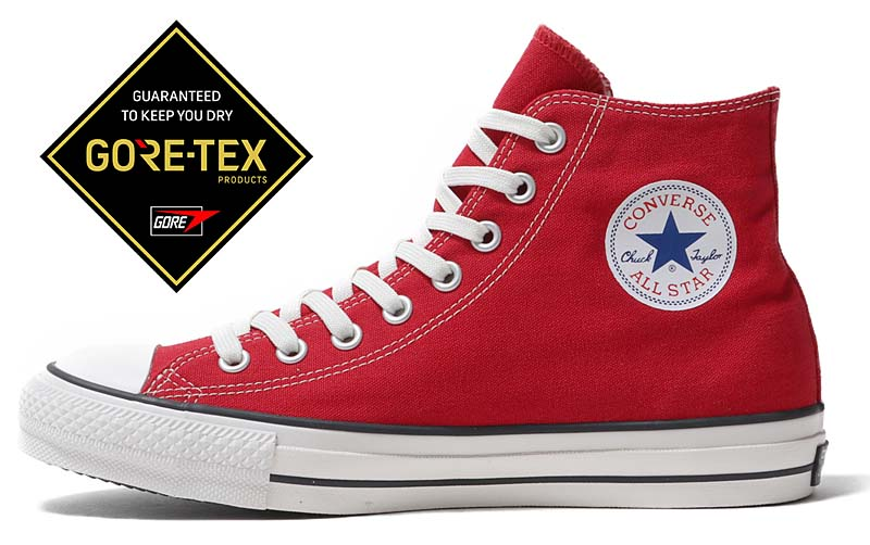 CONVERSE ALL STAR 100 GORE-TEX HI RED 31300431 コンバース オールスター 100 ゴアテックス ハイ レッド