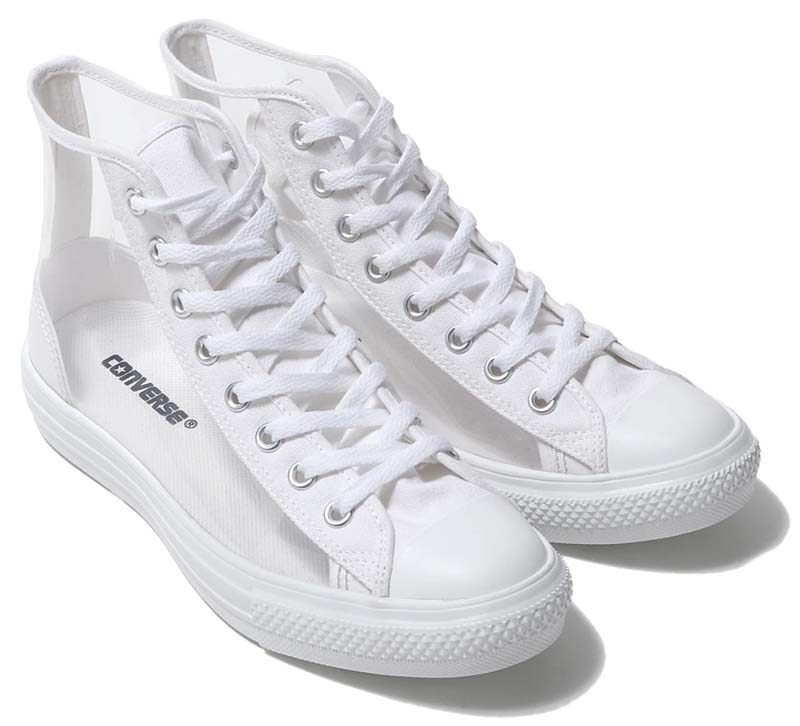 CONVERSE ALL STAR LIGHT CLEARMATERIAL HI [WHITE] 31300441 コンバース オールスター ライト クリアマテリアル ハイ ホワイト