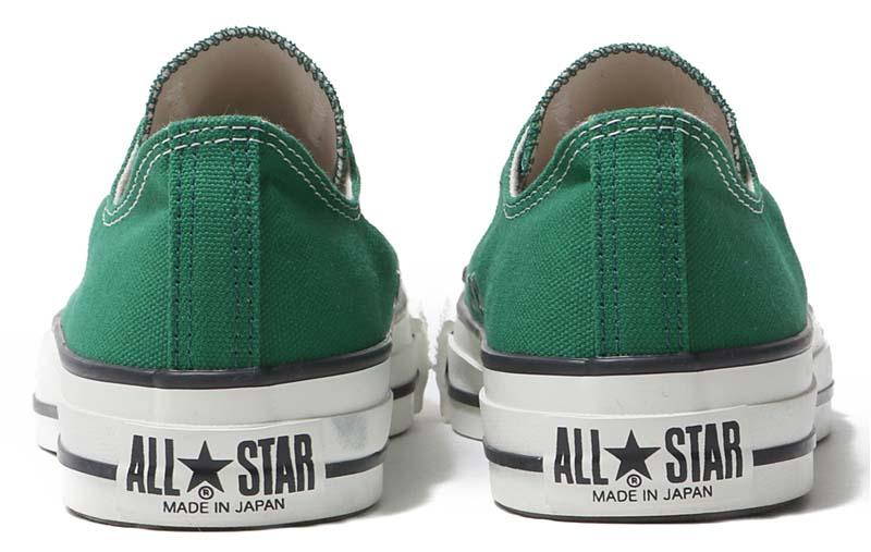 CONVERSE CANVAS ALL STAR J OX [GREEN] 31300650 コンバース キャンバス オールスター J OX グリーン