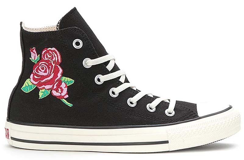 CONVERSE ALL STAR ROSE-EMBROIDERY HI [BLACK/RED] 32992381