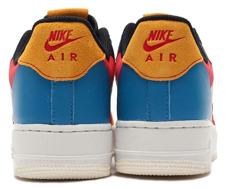 NIKE AIR FORCE 1 07 PREMIUM 1 SAIL / BLACK-IMPERIAL BLUE-AMBER RISE CI0065-101 ナイキ エアフォース1 07 プレミアム1 ホワイト/ブラック/レッド/ブルー/イエロー