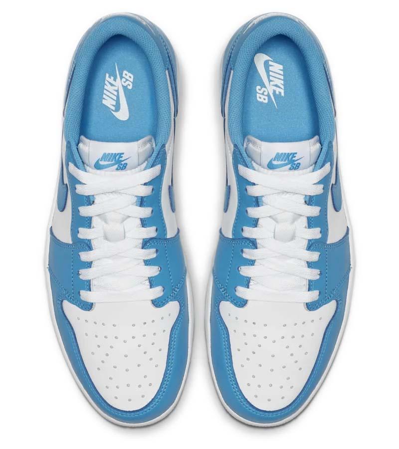 NIKE SB AIR JORDAN 1 LOW UNC DARK POWDER BLUE / DARK POWDER BLUE-WHITE CJ7891-401 ナイキ SB エアジョーダン1 ロー UNC ホワイト/ブルー
