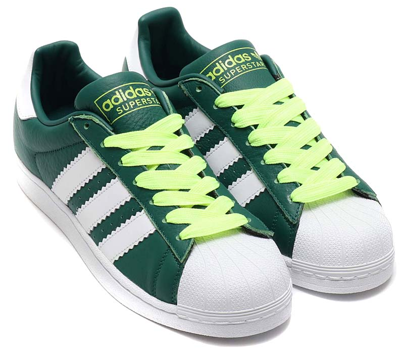 adidas Originals SUPERSTAR [COLLEGEATE GREEN / RUNNING WHITE / HI-RES YELLOW] BD7419 アディダス オリジナルス スパースター 「グリーン/蛍光イエロー」