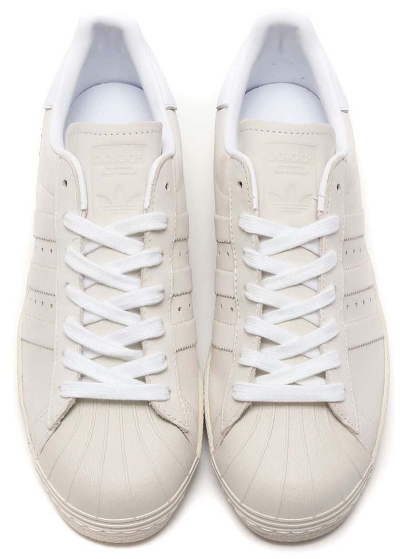adidas Originals SUPERSTAR 80s [RUNNING WHITE / RUNNING WHITE / RAW WHITE] DB2685 アディダス オリジナルス スパースター 80s 「オフホワイト」
