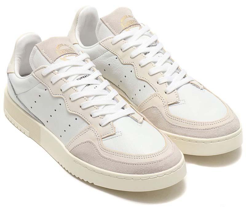 adidas Originals SUPERCOURT CRYSTAL WHITE / CHALK WHITE / OFF WHITE EE6024 アディダス オリジナルス スーパーコート 「ホワイト/オフホワイト」