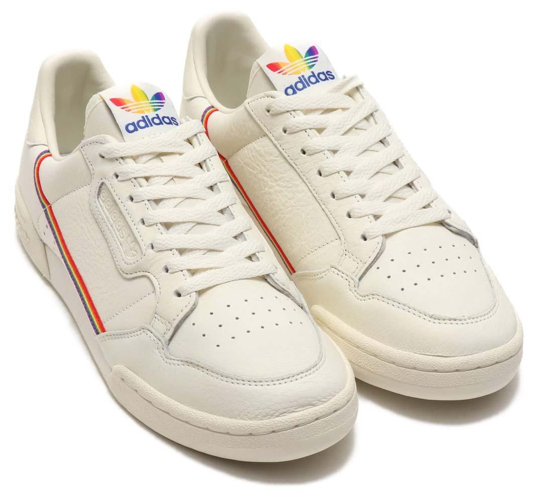 adidas Originals CONTINENTAL 80 PRIDE OFF WHITE / OFF WHITE / OFF WHITE EF2318 アディダス オリジナルス コンチネンタル 80 プライド 「オフホワイト/レインボー」