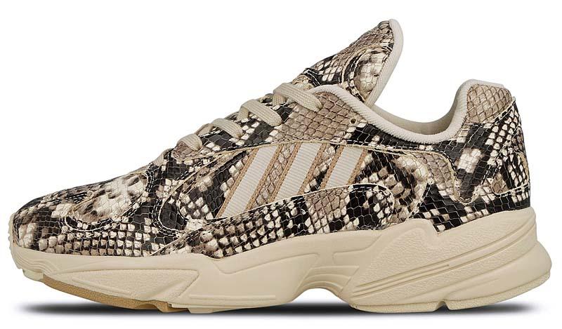 """adidas Consortium YUNG-1 """"SNAKESKIN"""" BGE/SNK/NAT EG1717 アディダス コンソーシアム ヤング1 スネークスキン [ベージュ/ブラック/ゴールド」"""