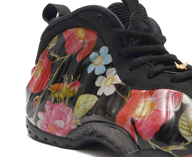 NIKE AIR FOAMPOSITE ONE FLORAL [BLACK / BLACK-WHITE] 314996-012