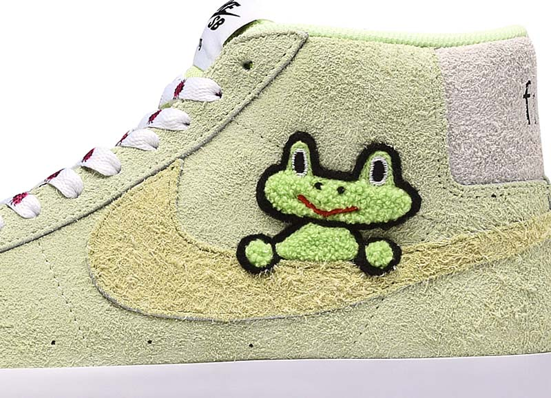 "NIKE SB ZOOM BLAZER MID QS ""Frog Skateboards"" [LIGHT LIQUID LIME/WHITE/LIGHT CRIMSON/LAWN] AH6158-300"