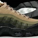 NIKE AIR MAX 95 ESSENTIAL [BLACK / WHITE / SEQUOIA / CARGO KHAKI] (749766-024)
