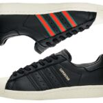adidas Originals SUPERSTAR 80s [CORE BLACK / GREEN / RED] (cq2656)