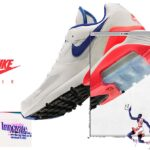 NIKE AIR MAX 180 [WHITE / ULTRAMARINE / SOLAR RED] (615287-100)