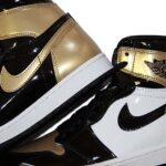 NIKE AIR JORDAN 1 RETRO HIGH OG NRG [BLACK / WHITE / METALLIC GOLD] (861428-007)