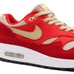 NIKE AIR MAX 1 PREMIUM RETRO [TOUGH RED / MUSHROOM-RUSH RED-PALE VANILLA] (908366-600)