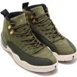 cheap for discount 9d2d3 d4108 NIKE AIR JORDAN 12 RETRO  OLIVE CANVAS   METALLIC GOLD-BLACK-SAIL  (130690- 301)