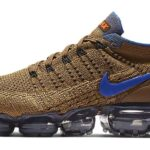 NIKE AIR VAPORMAX FLYKNIT 2 [GOLDEN BEIGE / RACER BLUE-CLUB GOLD] (942842-203)