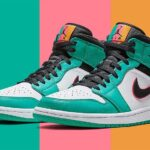 NIKE AIR JORDAN 1 MID SE SOUTH BEACH [TURBO GREEN / BLACK-HYPER PINK] (852542-306)