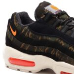 NIKE AIR MAX 95 CARHARTT WIP [BLACK / TOTAL ORANGE / SAIL] (av3866-001)