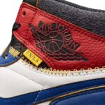 NIKE x UNION AIR JORDAN 1 HIGH OG NRG [WHITE /STORM BLUE-VARSITY RED-BLACK] (bv1300-146)