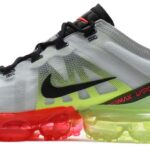 NIKE AIR VAPORMAX 2019 [PURE PLATINUM / BLACK / VOLT / BRIGHT CRIMSON] (AR6631-007)