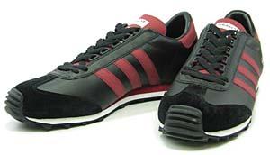 adidas nite jogger (black/true red/r white 551810) アディダス ナイトジョガー (黒/赤)