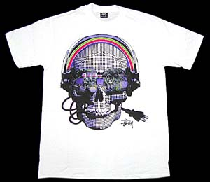 stussy cyber skull tee ステューシー サイバースカル Tシャツ
