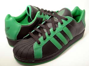 adidas ultrastar black/fairway アディダス ウルトラスター 黒/緑