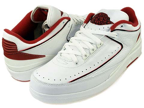 NIKE AIR JORDAN 2 RETRO LOW [WHITE / BLACK-VARSITY RED] 309837-101